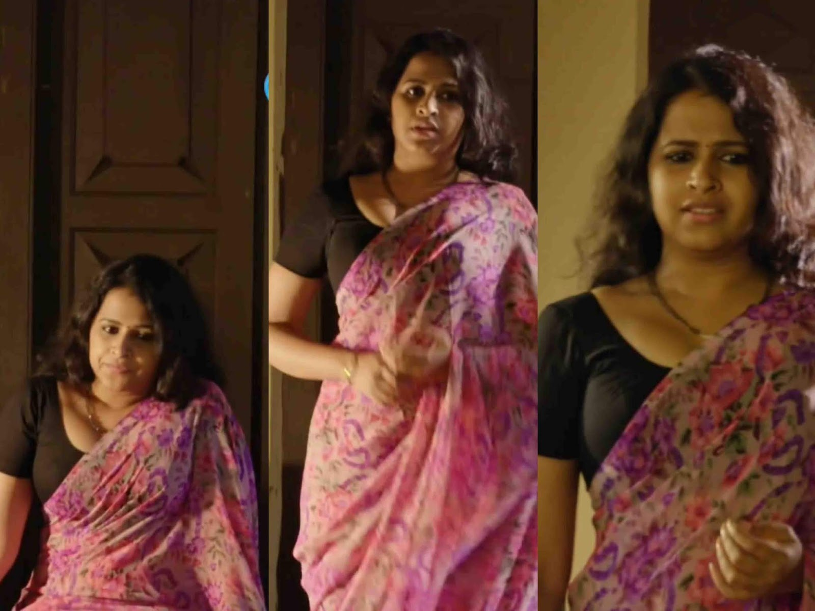 Sadhika Venugopal Hot Cleavage Photos In Saree  Malayalam -5280