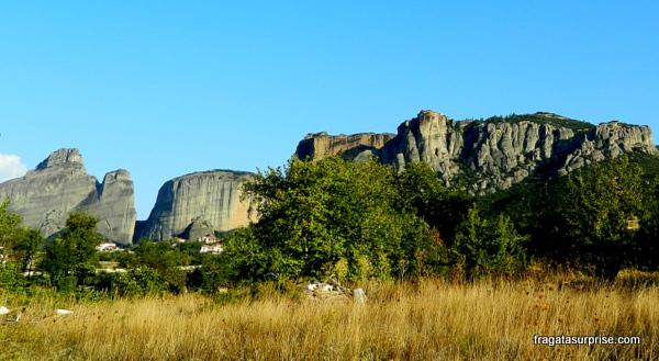 Formações rochosas de Meteora, na Tessália, Grécia