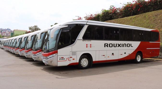 Rouxinol Viagens e Turismo reforça frota com 39 ônibus Marcopolo
