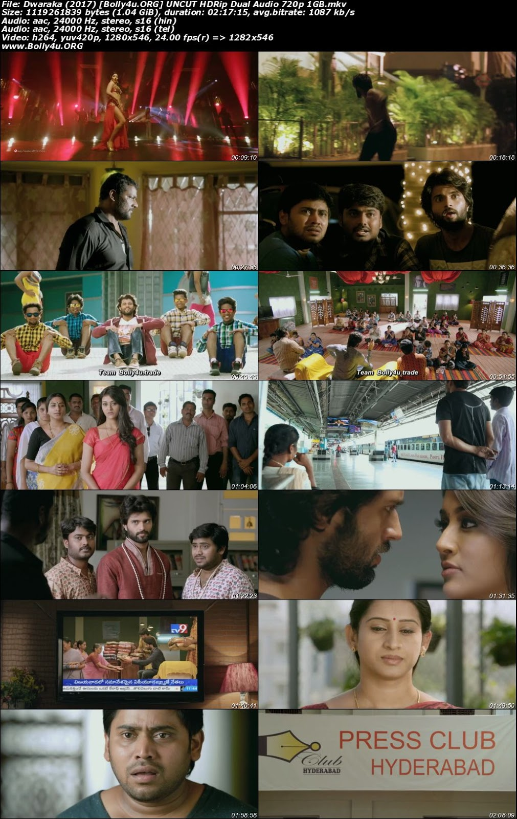 Dwaraka 2017 HDRip 400MB UNCUT Hindi Dual Audio 480p Download