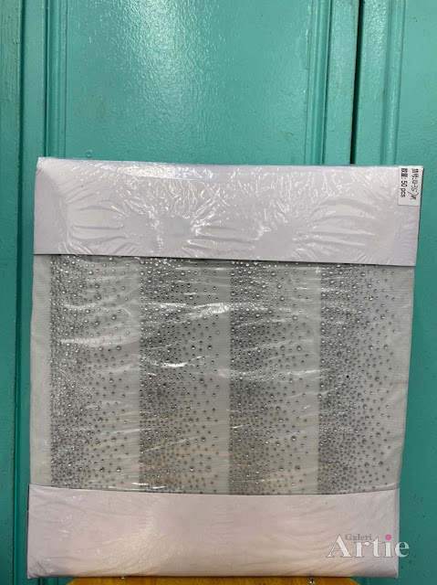 Hotfix sticker dmc tudung bawal fabrik corak fade rapat