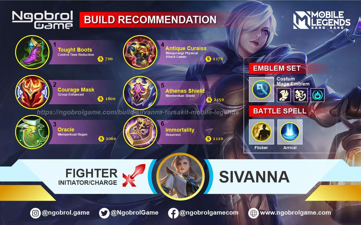 Build Silvanna Top Global Tersakit Mobile Legends