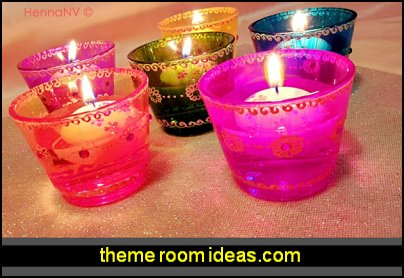 Glass Candle Holders moroccan party decorations arabian nights party decor