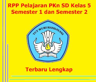 RPP SD PKn Kelas 5, Semester 2 dan Semester 1, KTSP
