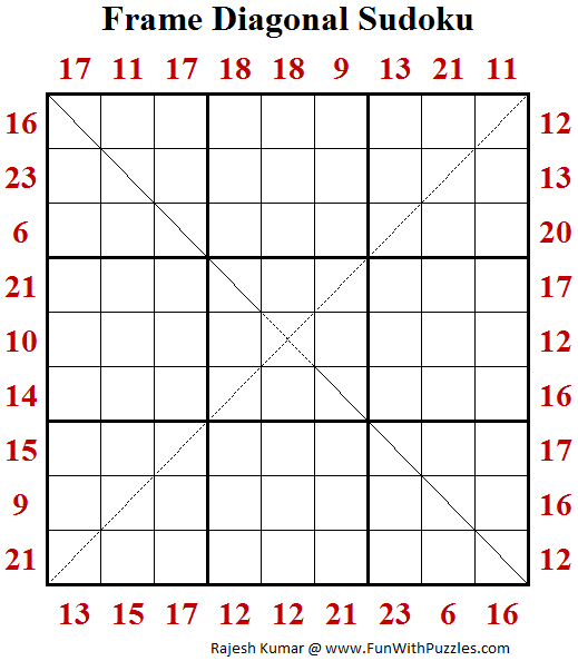 Frame Diagonal Sudoku (Fun With Sudoku #196)