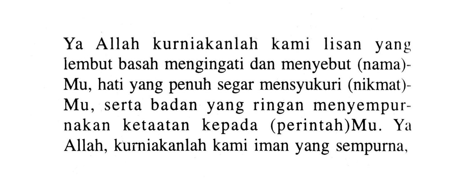 Doa Al Mathurat Pagi Dan Petang