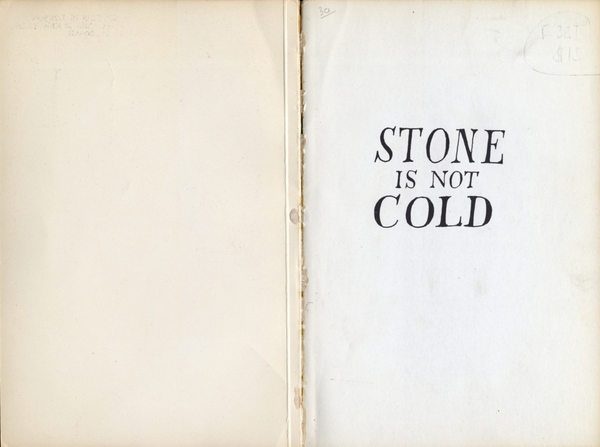 M. Sasek - Stone is not Cold (1961) | W.H. Allen. London