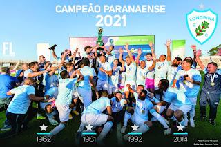 Londrina EC Campeão Paranaense de 2021