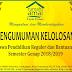 Pengumuman Kelolosan Beasiswa Pendidikan Semester Genap 2018/2019