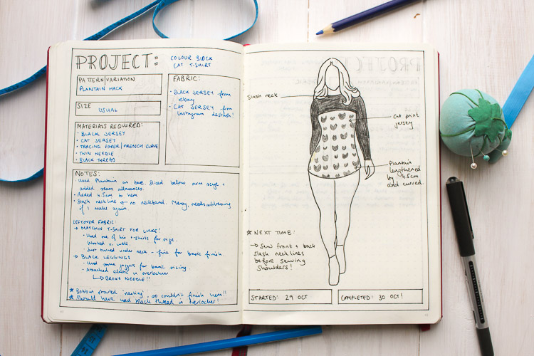 How i use my bullet journal for sewing planning and more for Home project planner
