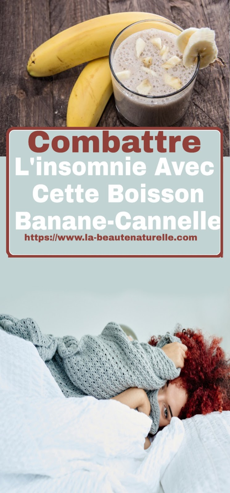 Combattre L'insomnie Avec Cette Boisson Banane-Cannelle