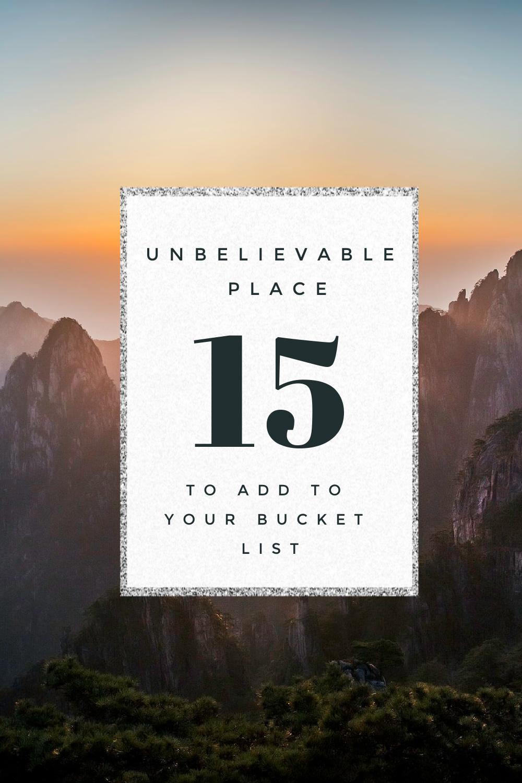 create a travel bucket list off the beaten path