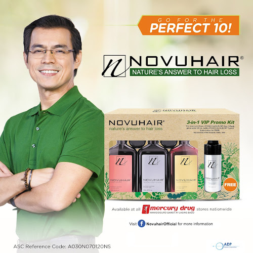 ADP Pharma Launches NOVUHAIR® 3-in-1 VIP PROMO KIT #Perfect10Novuhair #NothingToLoseNovuhair #YouDeserveMoreNovuhair #NovuhairCares #ChooseNatural
