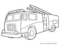 Mewarnai Gambar Mobil Pemadam Kebakaran Ayo Kartun