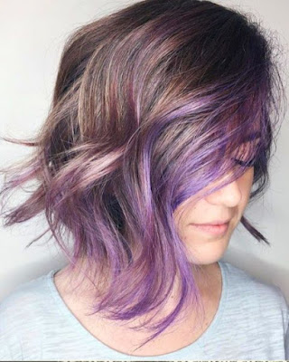Purple Layered Bob Haircut - 20 Best Medium Layered Haircut - For Women Of All Ages