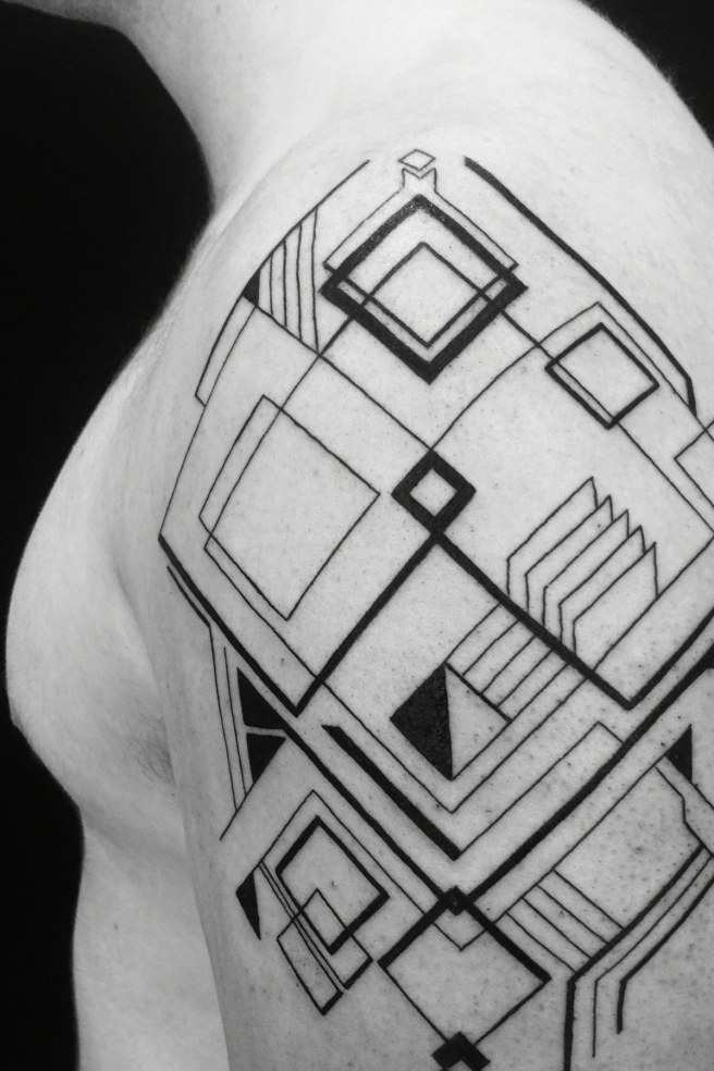 Geometric Tattoos on Shoulder