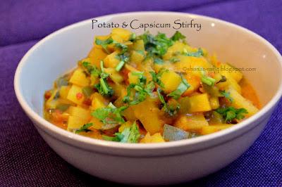 Potato & Capsicum Stir fry