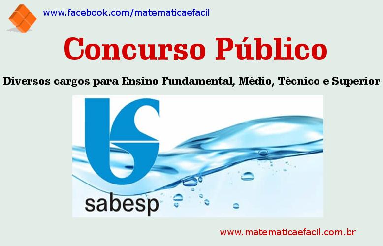 Concurso Público para a SABESP