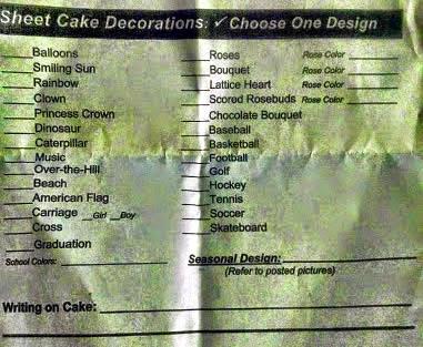 Walmart bakery order form myideasbedroom com