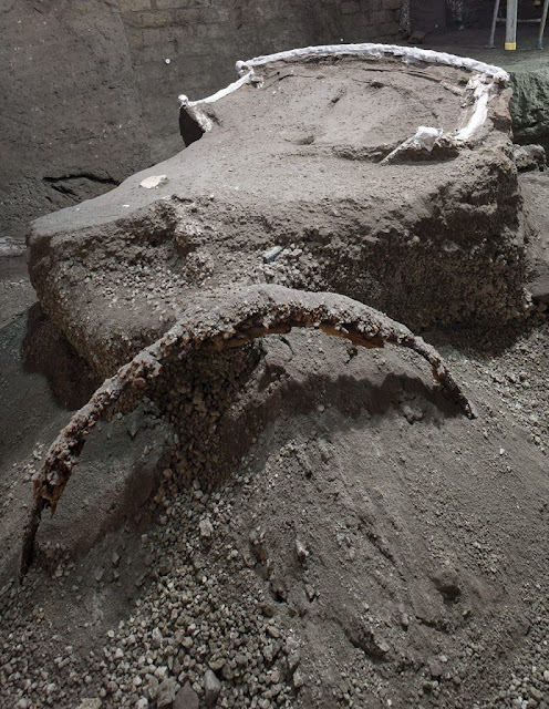 Four-wheeled Processional Chariot found in Pompeii