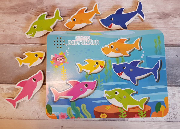 Baby shark wooden puzzle game complete with sound