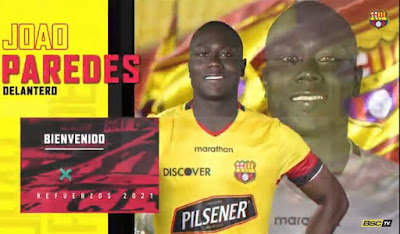 Joao Paredes refuerzo barcelona sc 2021