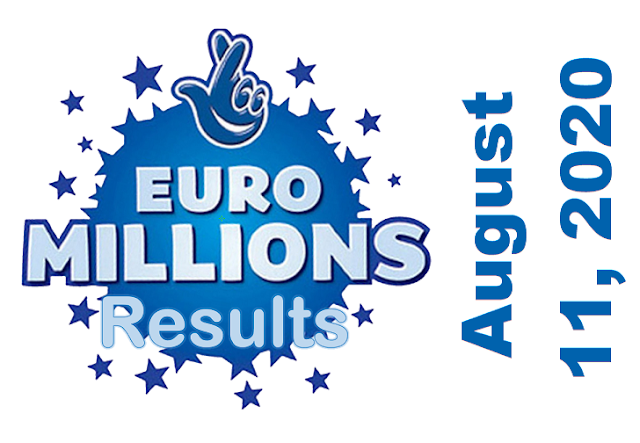 EuroMillions Results for Tuesday, August 11, 2020