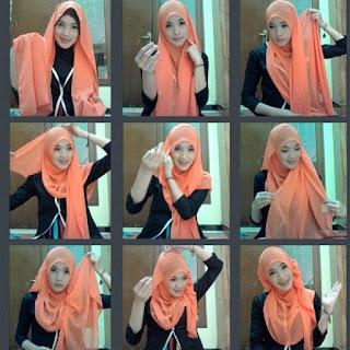 Kumpulan Tutorial Jilbab Segi Empat Simple