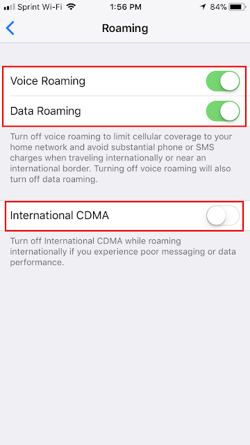Step By Step Guide With Sprint International Roaming And Wi Fi Calling One Magnet A Visit