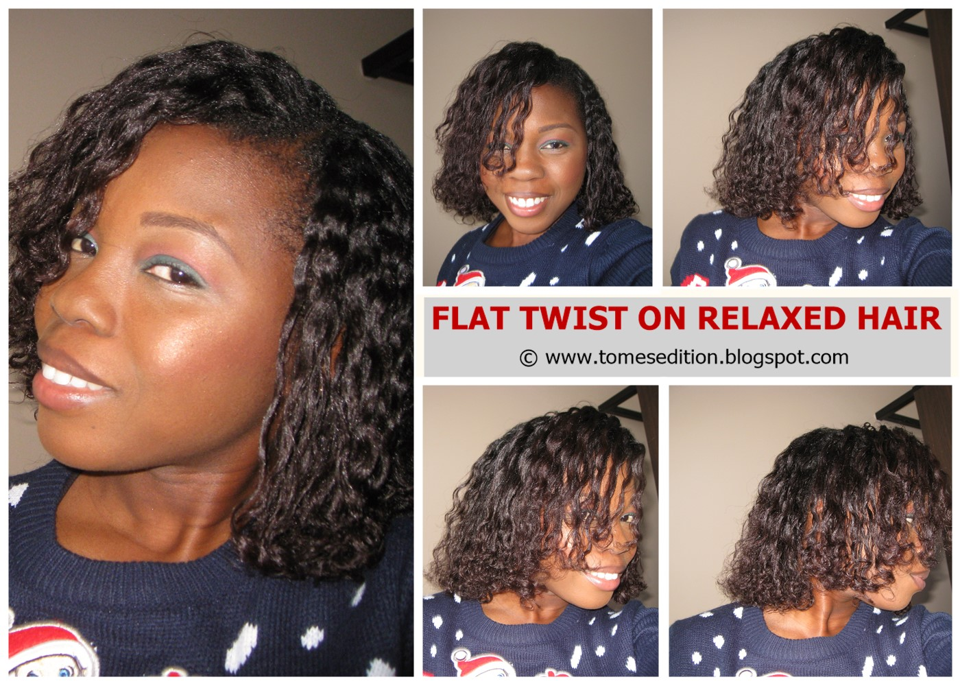 Tomes Edition: My Best Flat Twist Out On Relaxed Hair…