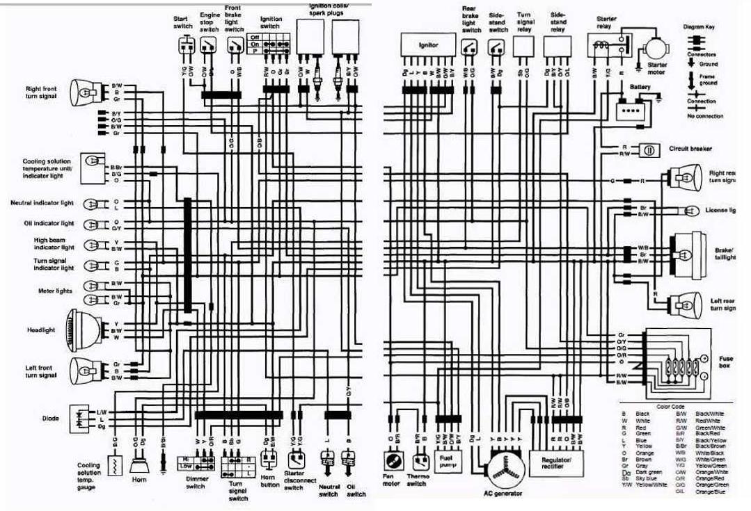Suzuki VS700 Intruder motorcycle 1987 Complete Electrical
