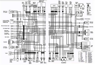 Suzuki VS700 Intruder motorcycle 1987 Complete Electrical Wiring Diagram (US and Canada) | All