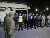 Satpol PP Bersama Satuan Sabhar dan Narkoba Polres Pinrang Melakukan Operasi Pekat