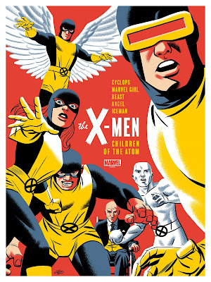 San Diego Comic-Con 2020 Exclusive X-Men: Children of the Atom Marvel Screen Print by Michael Cho x Mondo