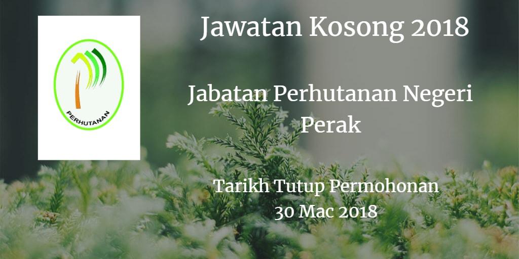 Jawatan Kosong Jabatan Perhutanan Negeri Perak 30 Mac 2018