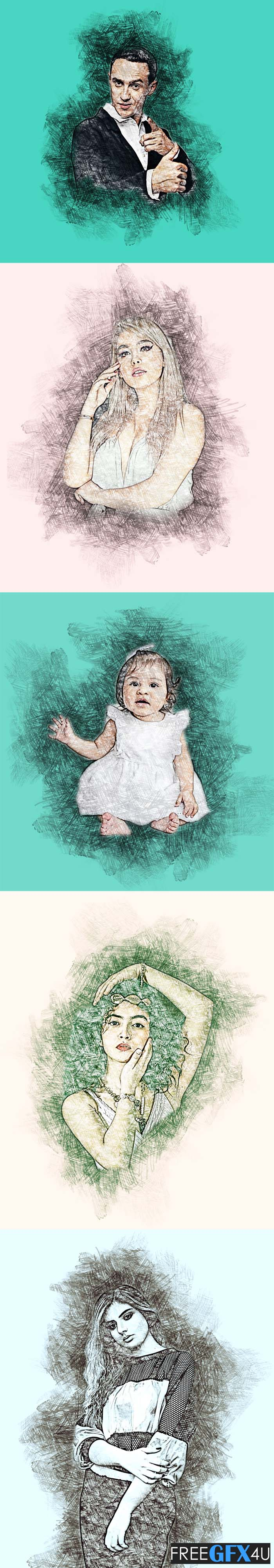 Abstract Sketch Photoshop Actions