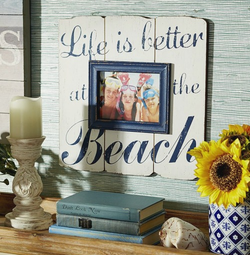 life is better at the beach picture frame