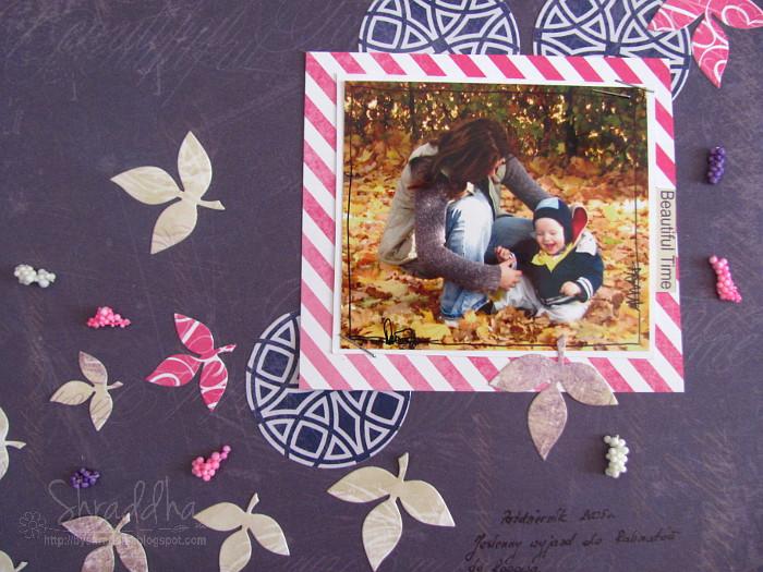 Jesiennie z liściem i paletką