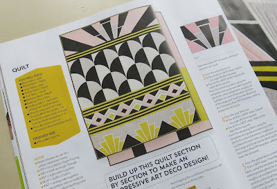 Art Deco style quilt by Stacey from SLOStudio - LPQ magazine