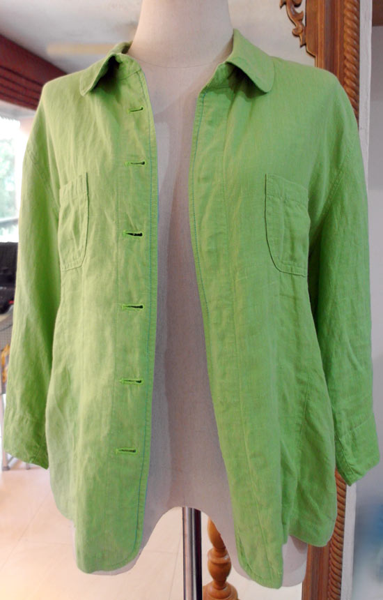 Art Wall Jr Green Jacket : Luxurious vintage clothing altered couture handmade fashion