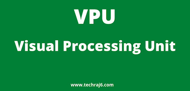 VPU full form, What is the full form of VPU