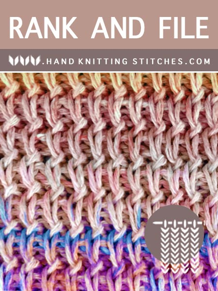 Hand #Knitting Stitches - Rank and File Textured Pattern