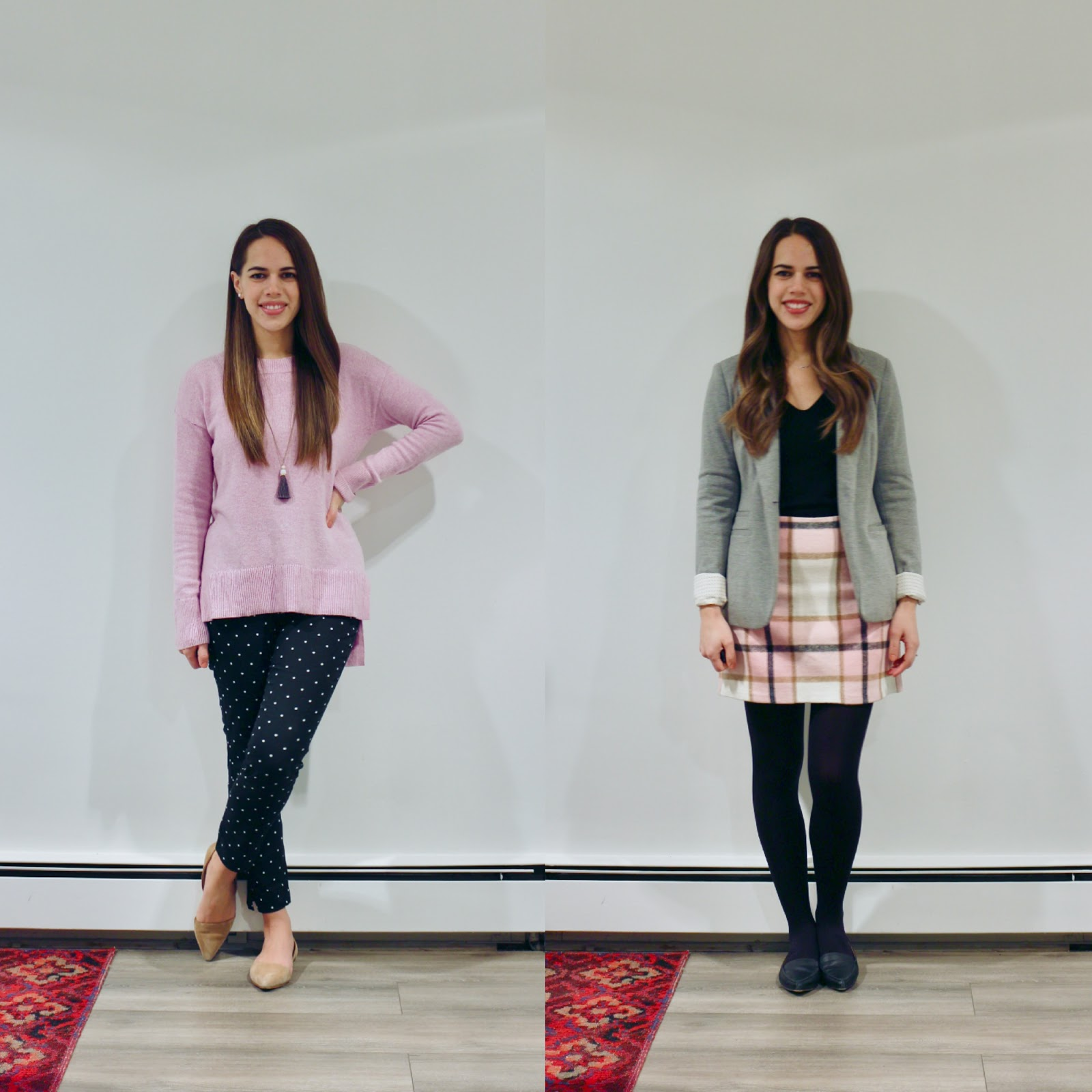 Jules in Flats - December Outfits (Business Casual Winter Workwear on a Budget).