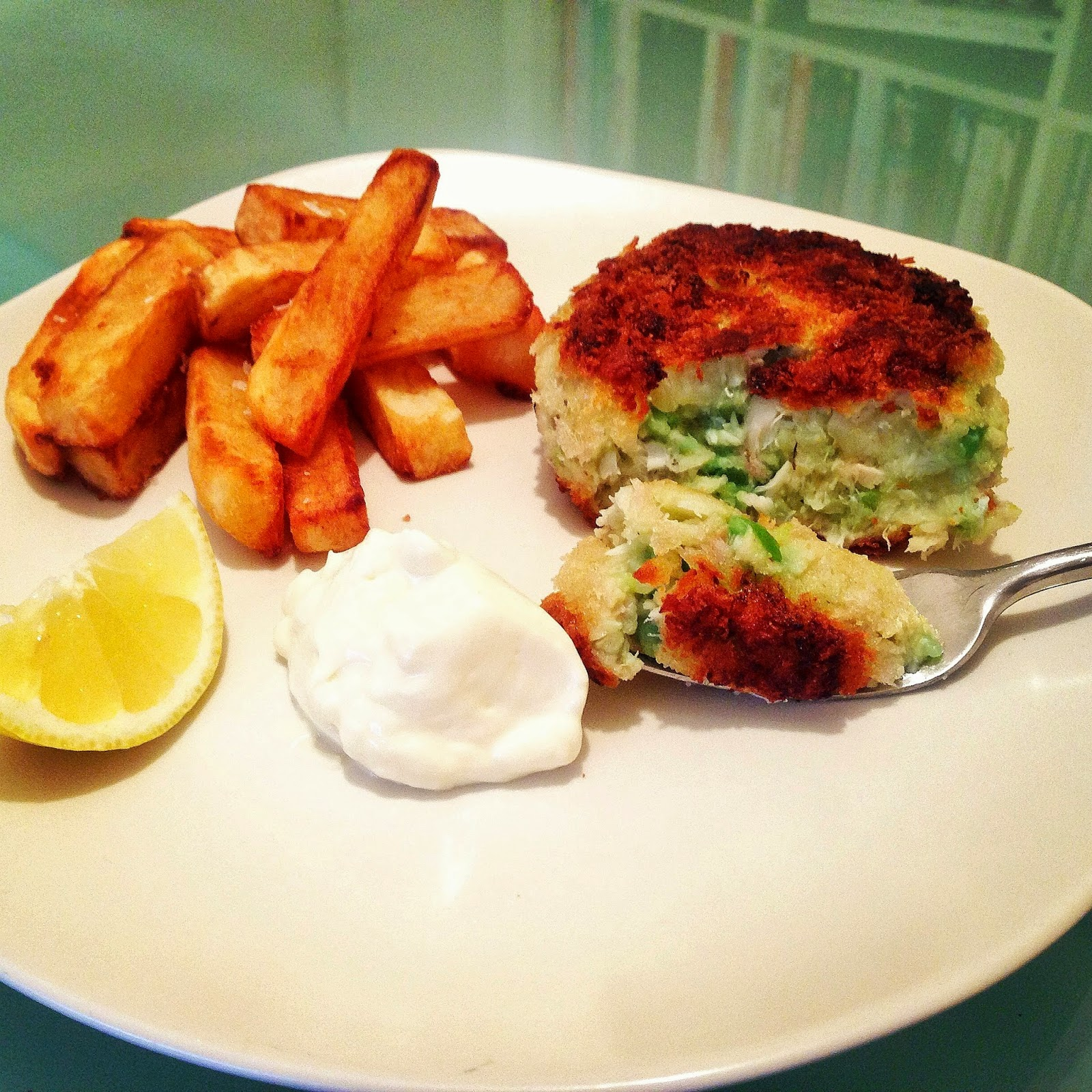 Haddock Minty Mushy Pea Fishcakes With Triple Cooked Chips