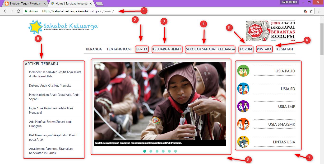 Website Sahabat Keluarga Kemdikbud