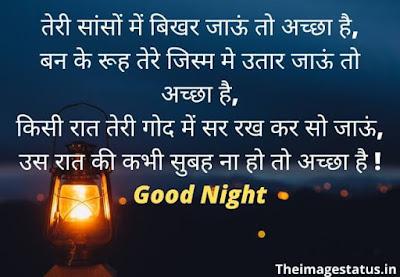 Good Night love Shayari In Hindi For Girlfriend