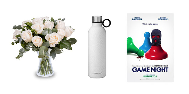 White Roses, Starbucks Water Bottle, Game Night Movie, College Bloger, Lifestyle Blogger