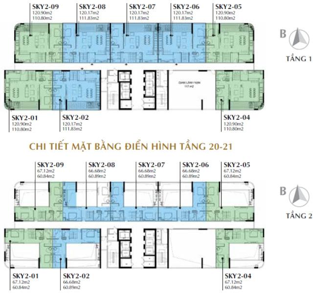 Bảng giá thiết kế căn hộ dự án Sunshine Crystal River Ciputra Sky Villas Tây Hồ Hà Nội