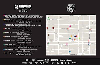 EL MAPA DONDE VAN A ESTAR LOS ARTISTAS DEL Meeting of Styles México 2016 graffiti cdmx street art