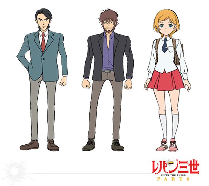 Lupin III Part 6 anime - personajes